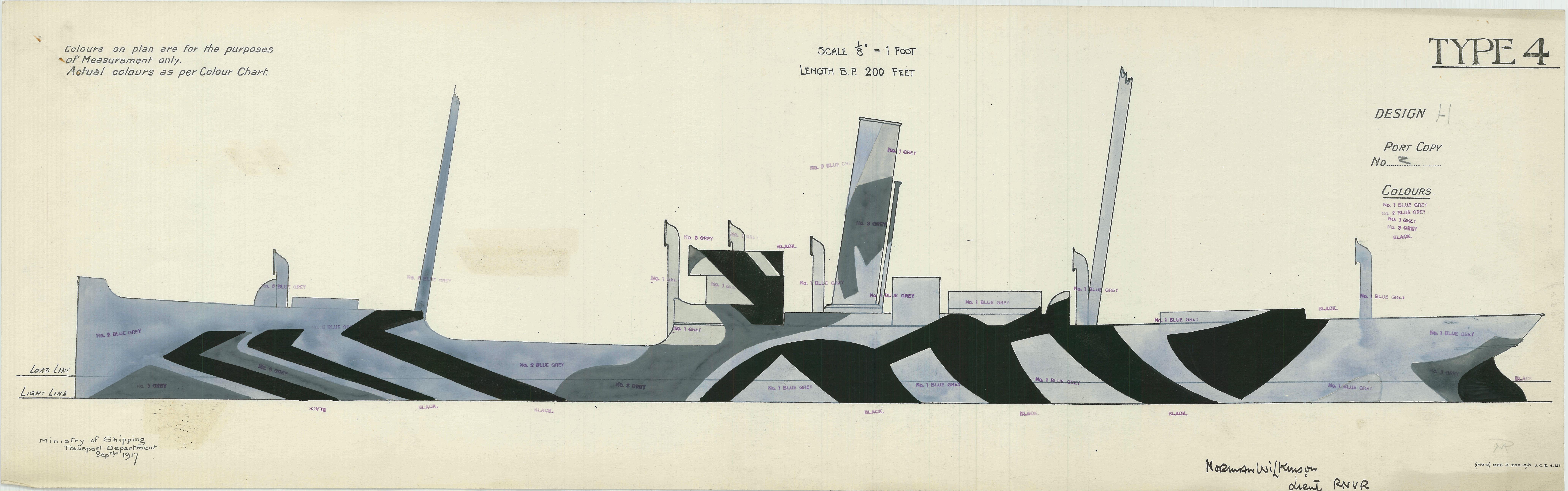 British Camouflage, Type 4, Design H, Starboard