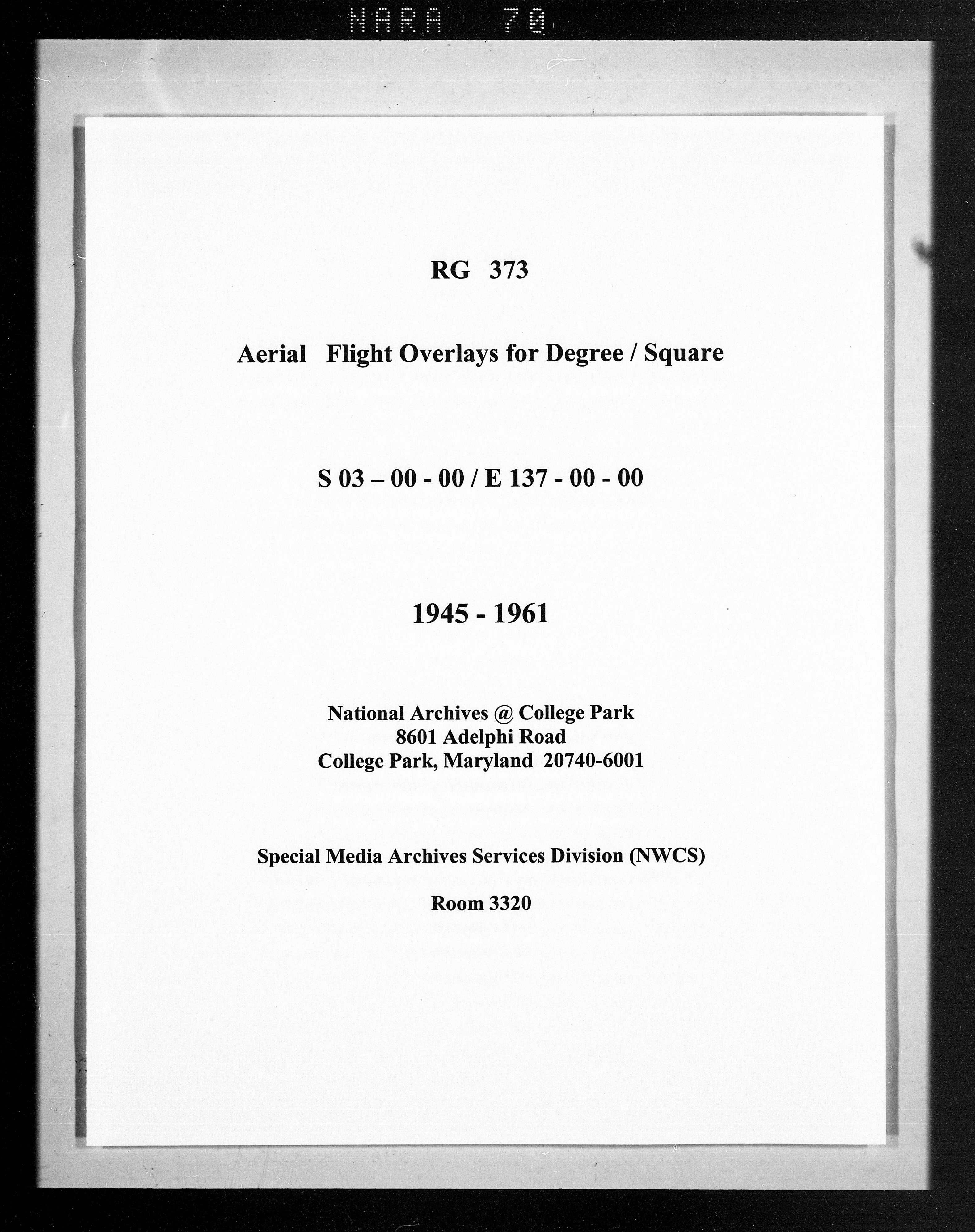 Overlay indexes for degree square 03S137E