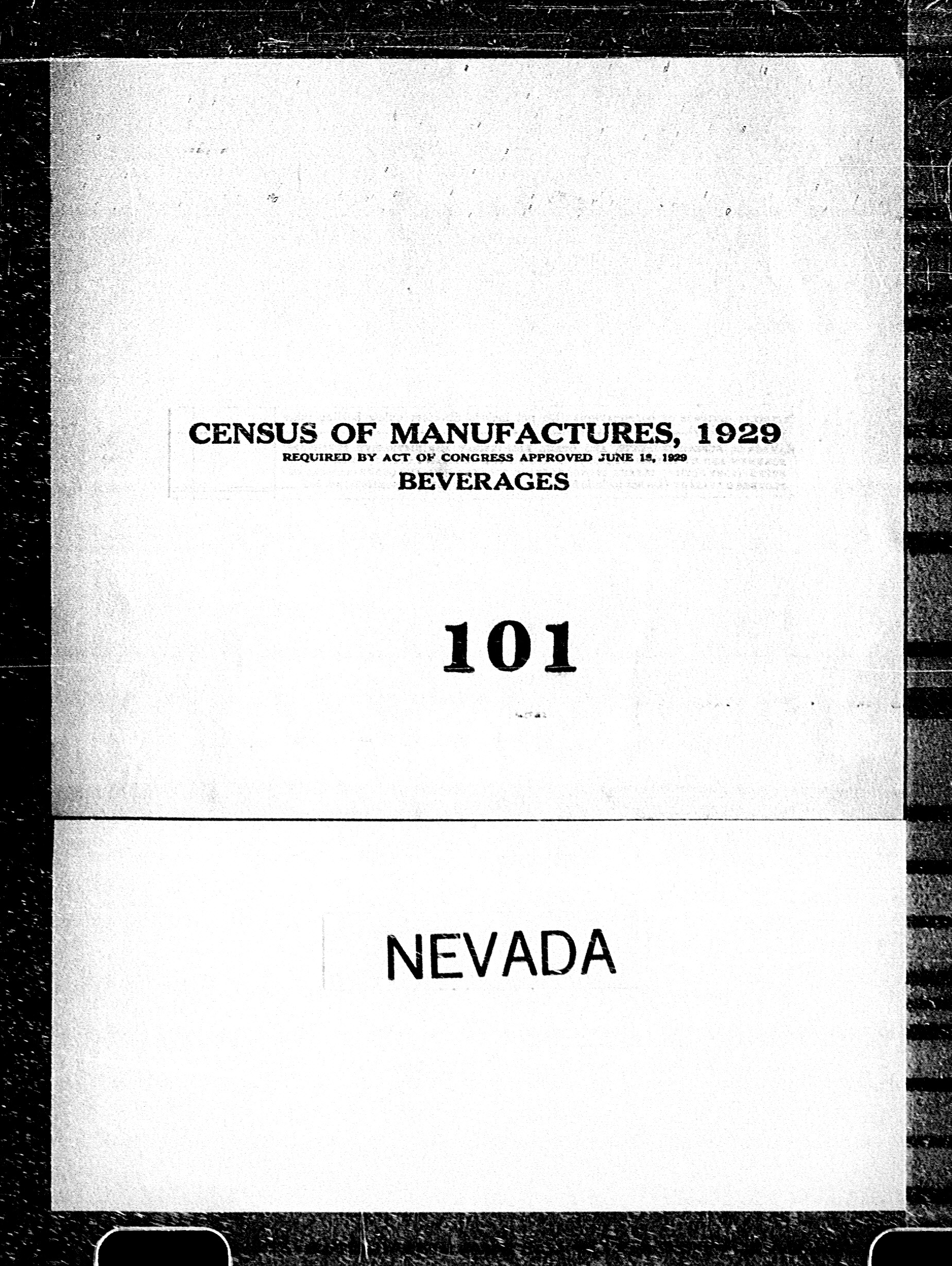 Nevada: Industry No. 101 - Beverages