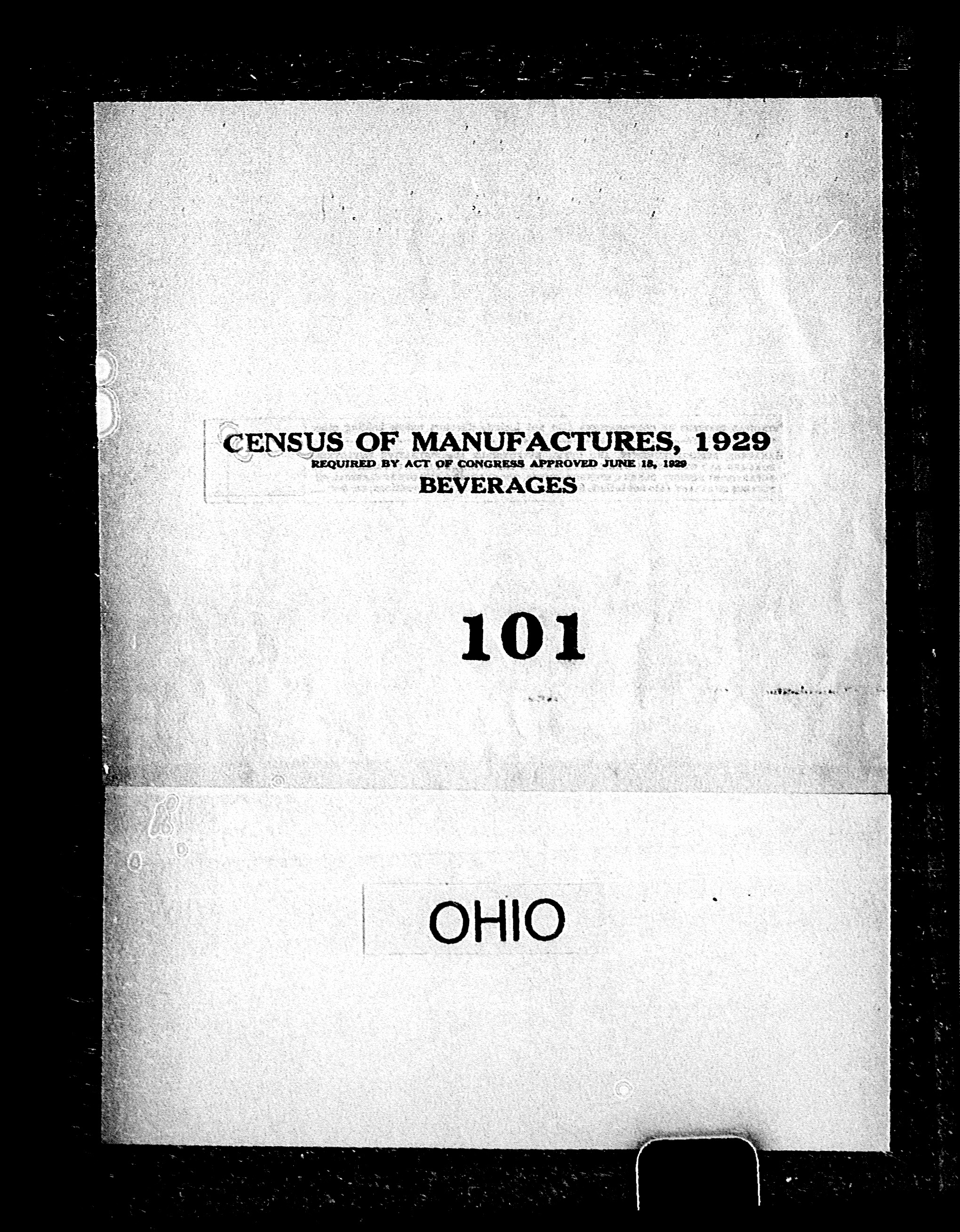 Ohio: Industry No. 101 - Beverages