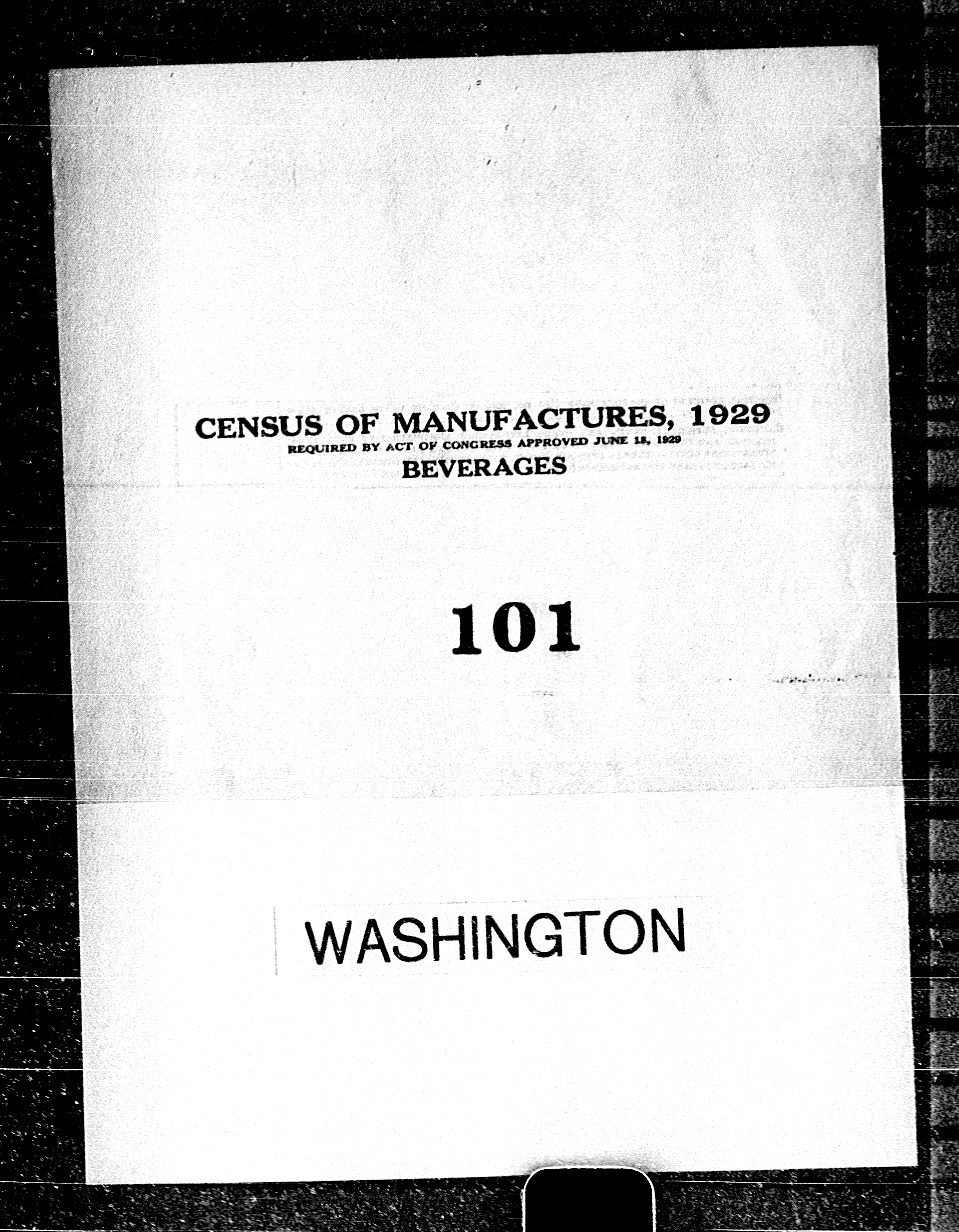 Washington: Industry No. 101 - Beverages