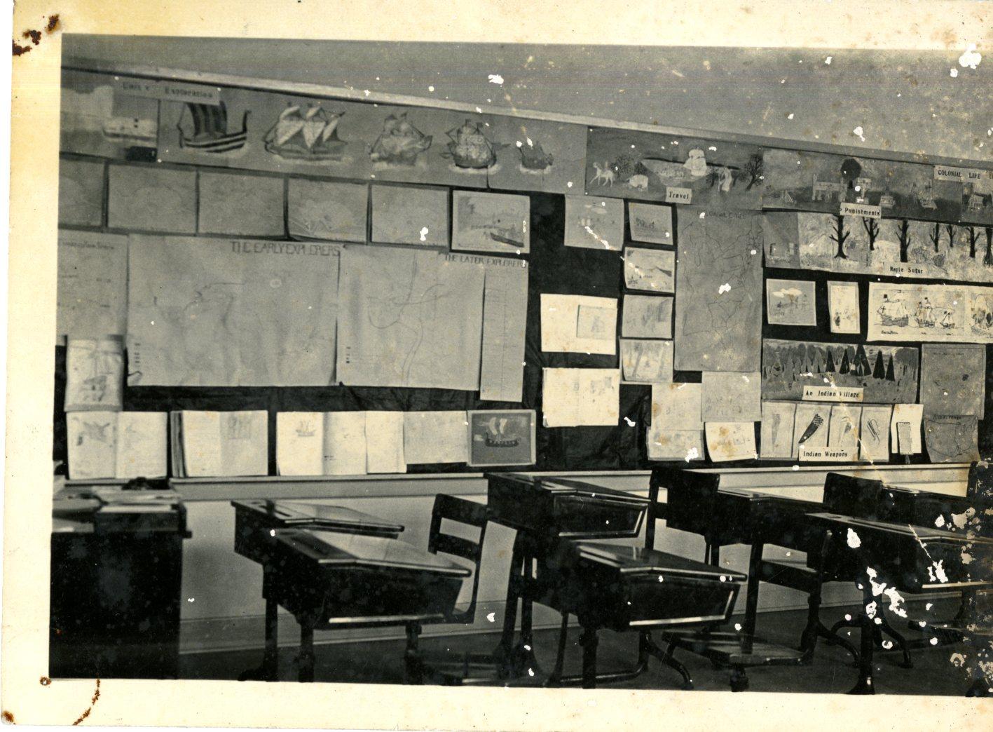 Desks in the Class Room