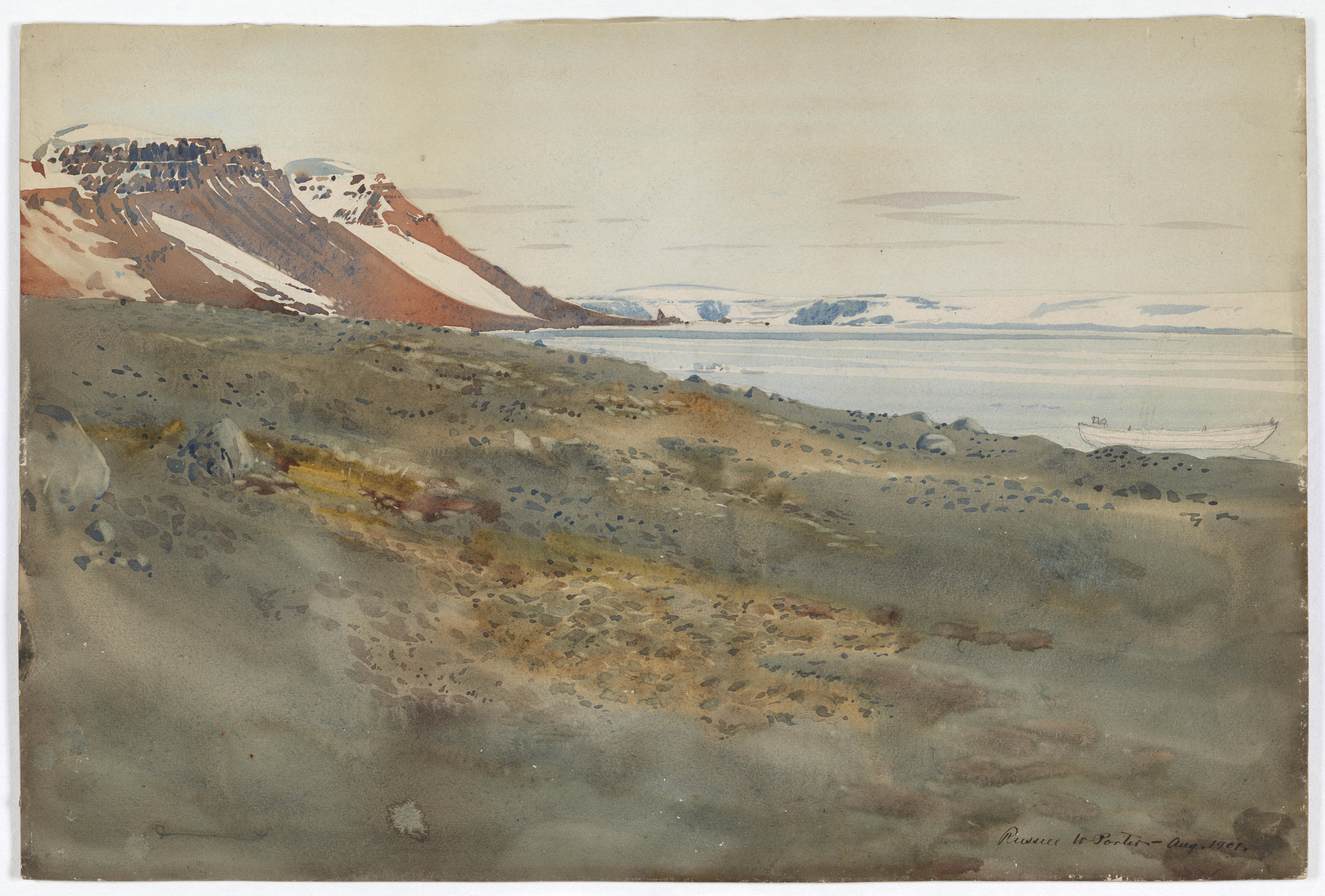 Arctic Landscape Watercolor Painting