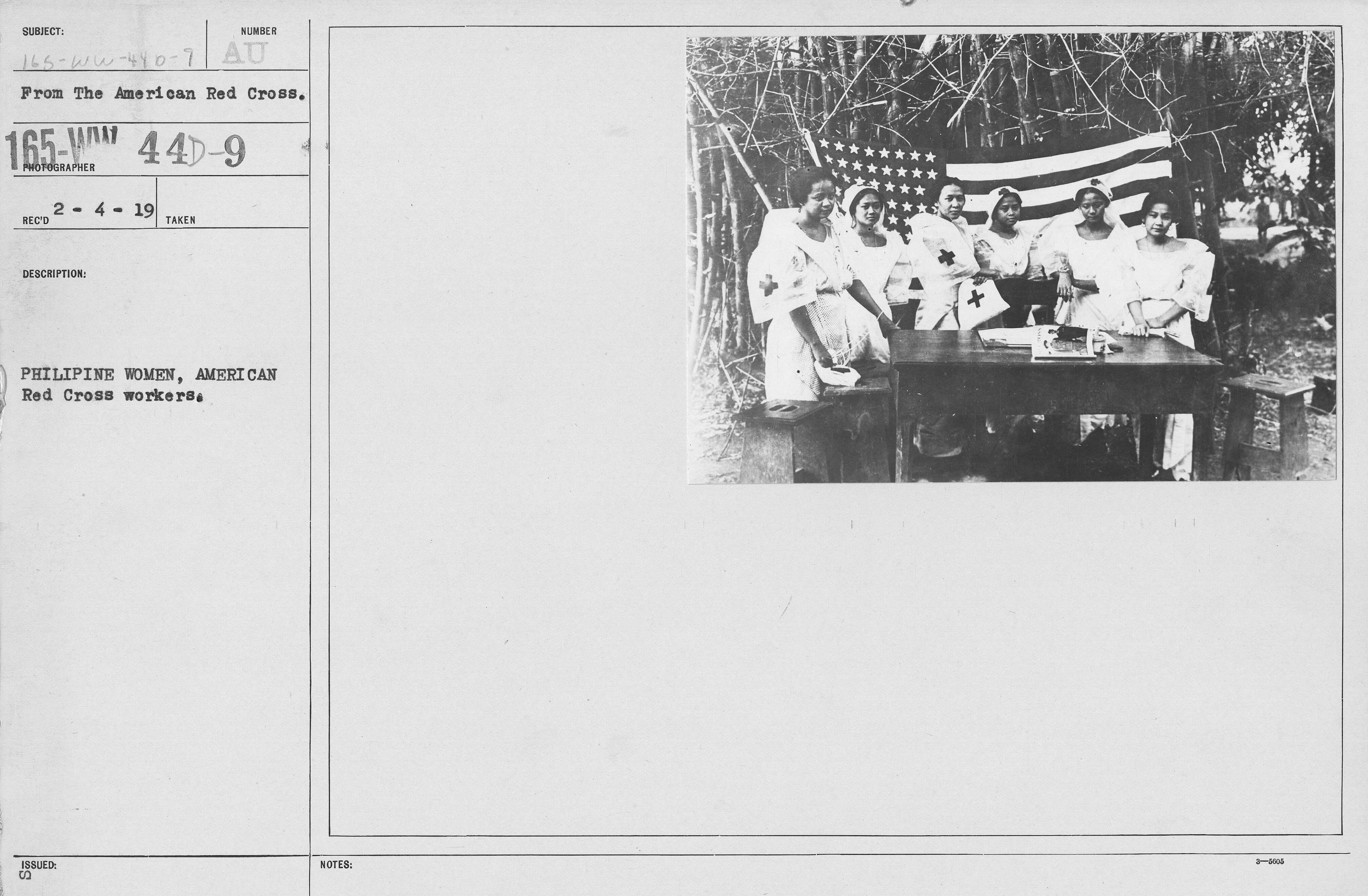 American Red Cross - Switzerland, & Misc. - Philipine women, American Red Cross workers