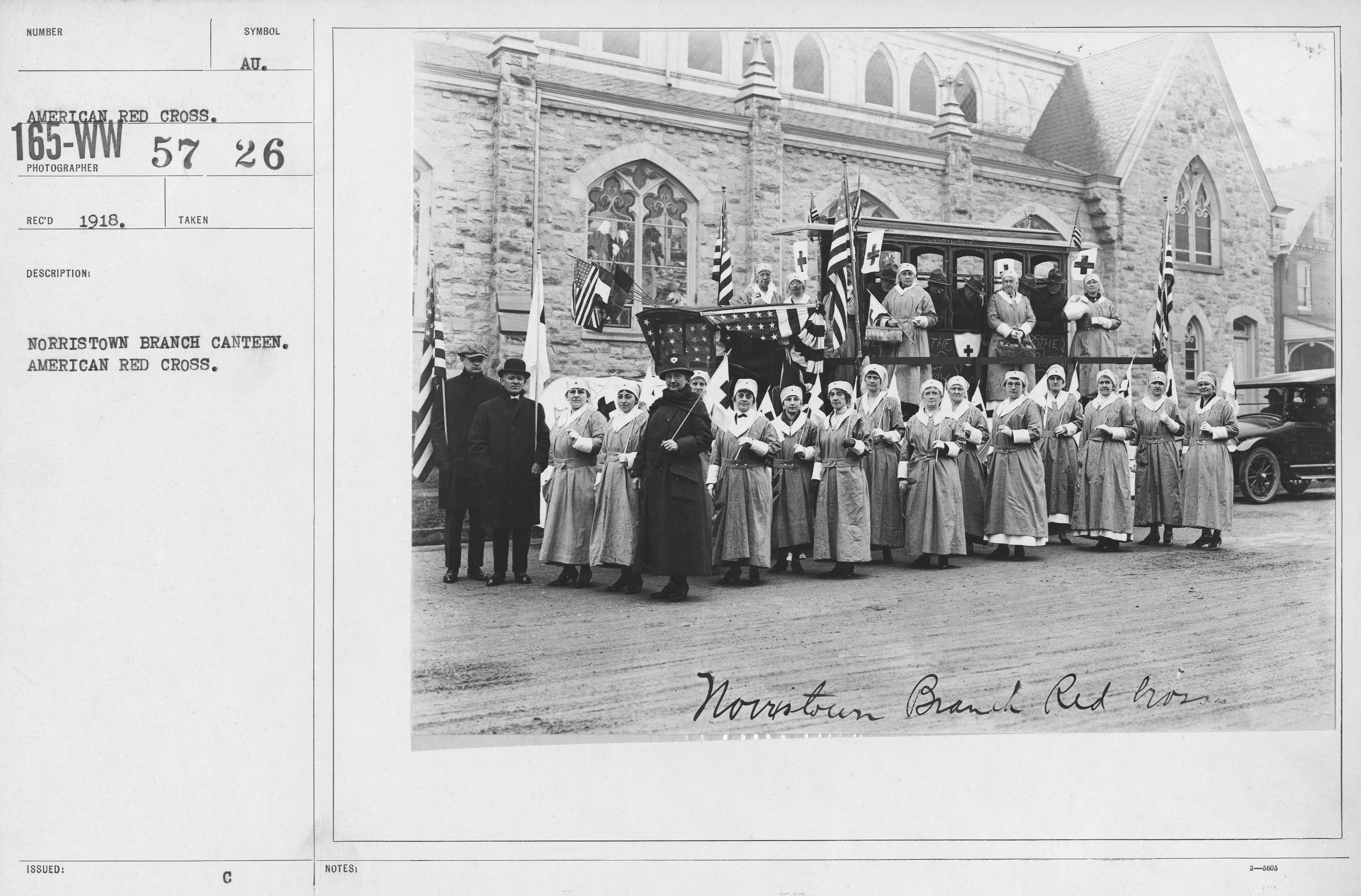 American Red Cross - Groups - Norristown Branch Canteen. American Red Cross