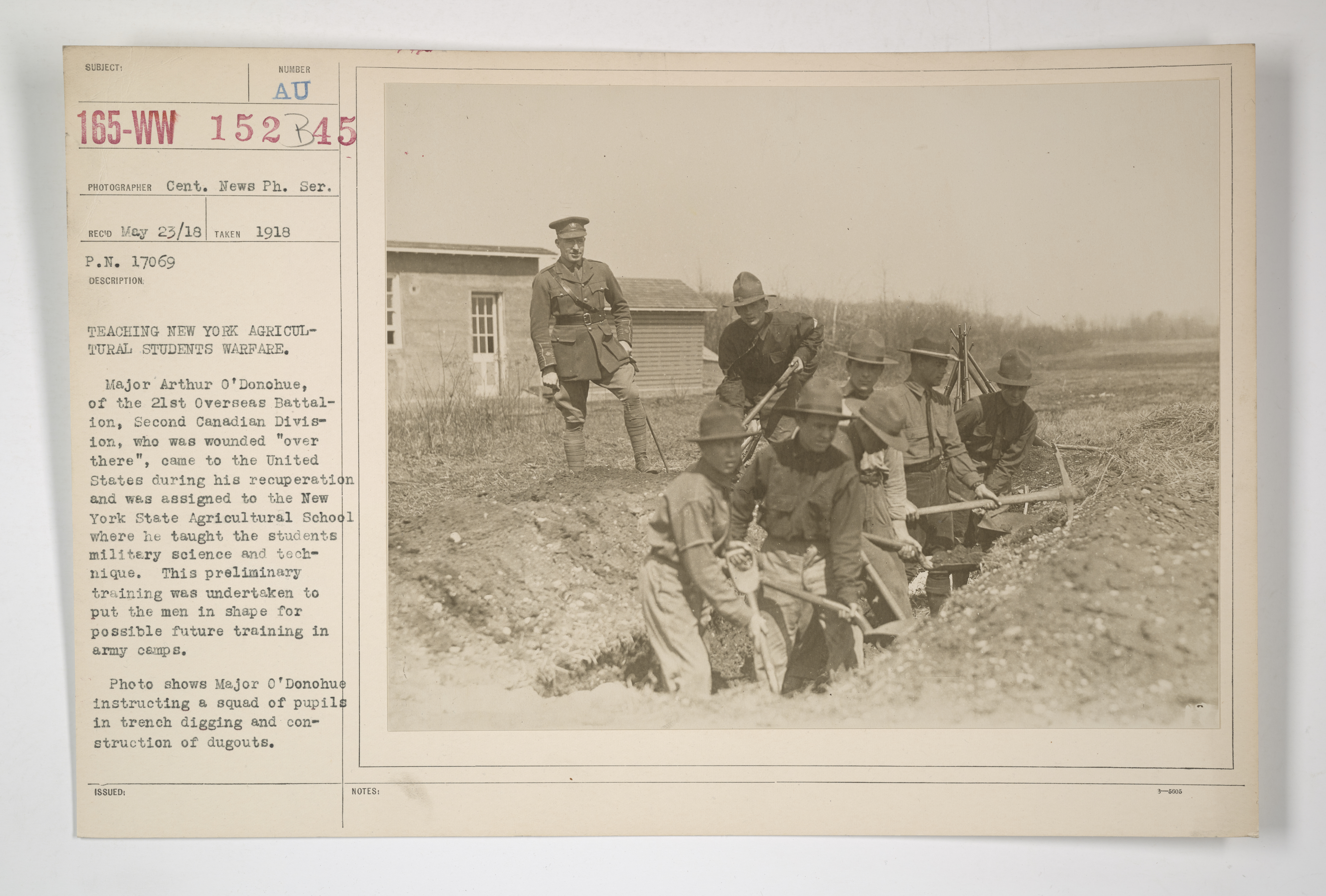 Drills - Trench Warfare - Teaching New York agricultural students warfare