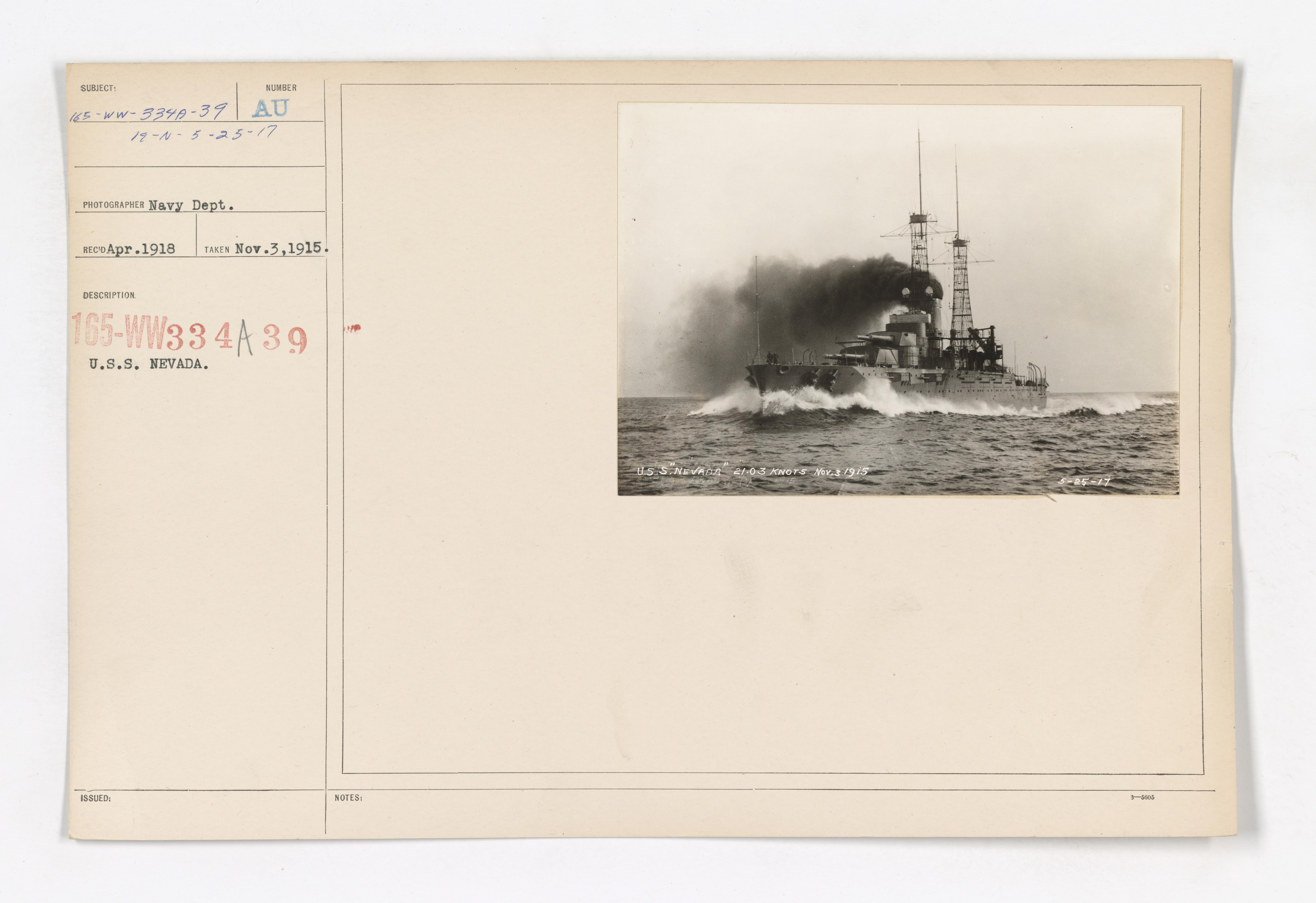 Navy - Ships [165-WW-334A-39]