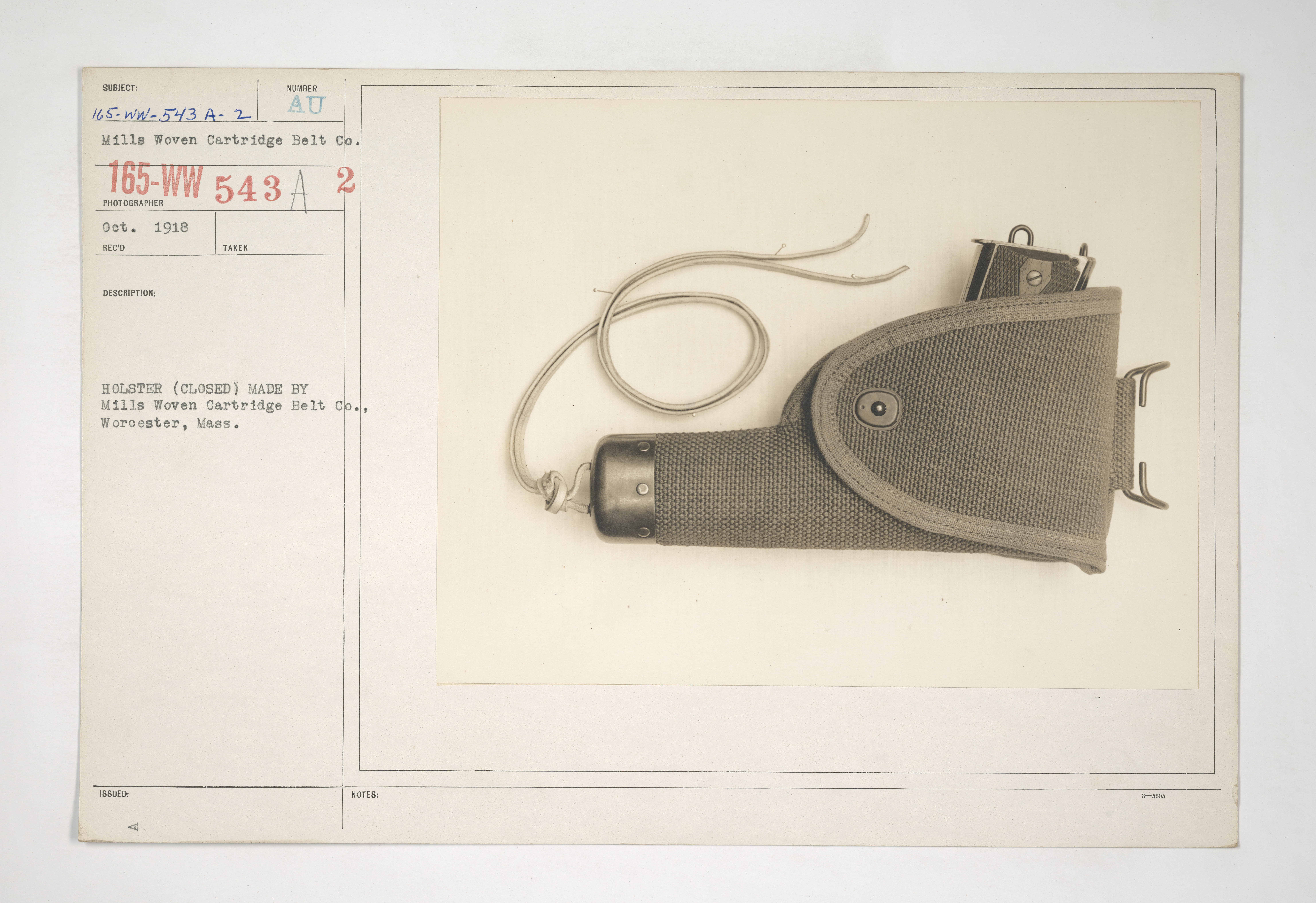 Uniforms and Equipment - Pouches and Scabbards [165-WW-543A-2]
