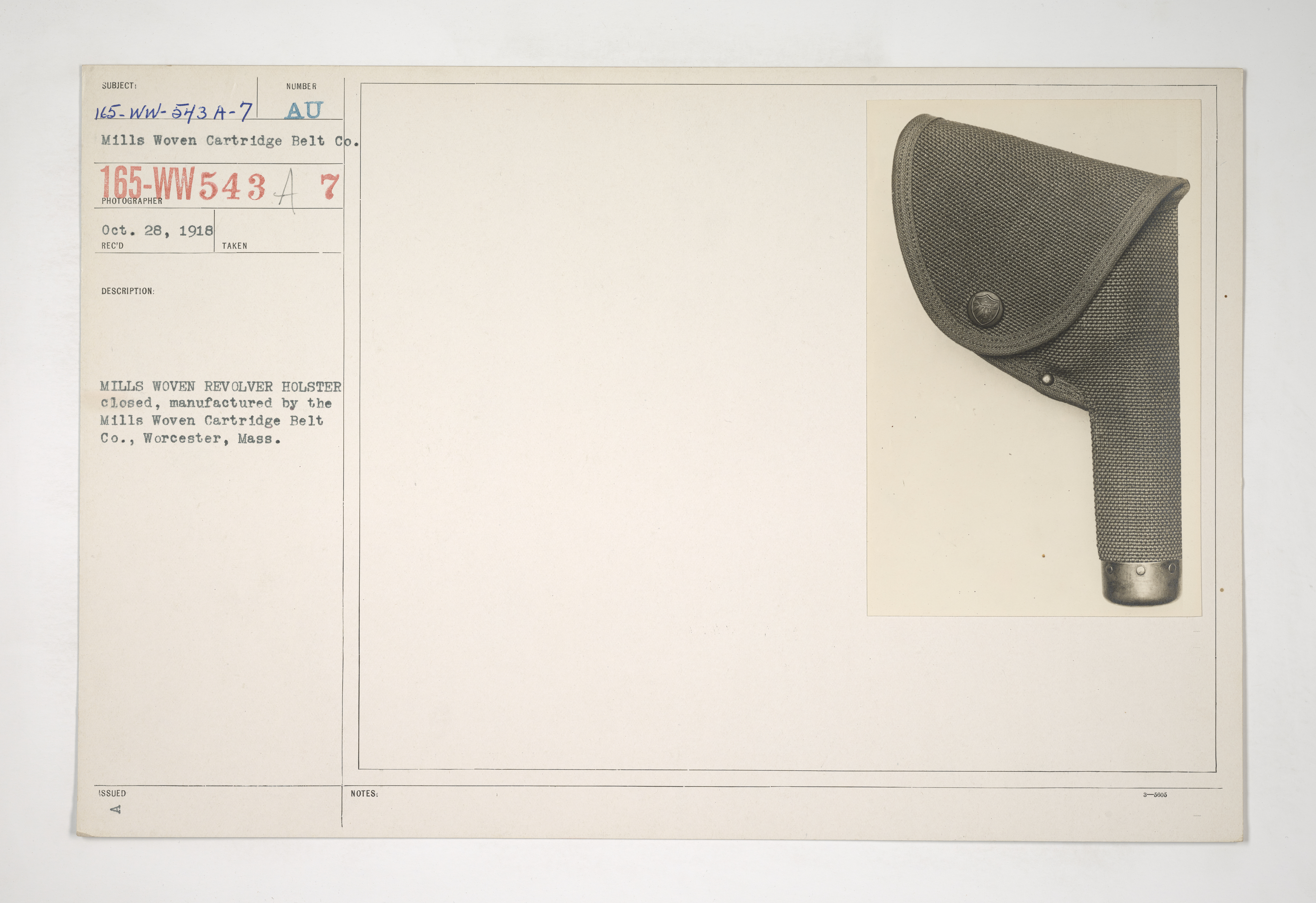 Uniforms and Equipment - Pouches and Scabbards [165-WW-543A-7]