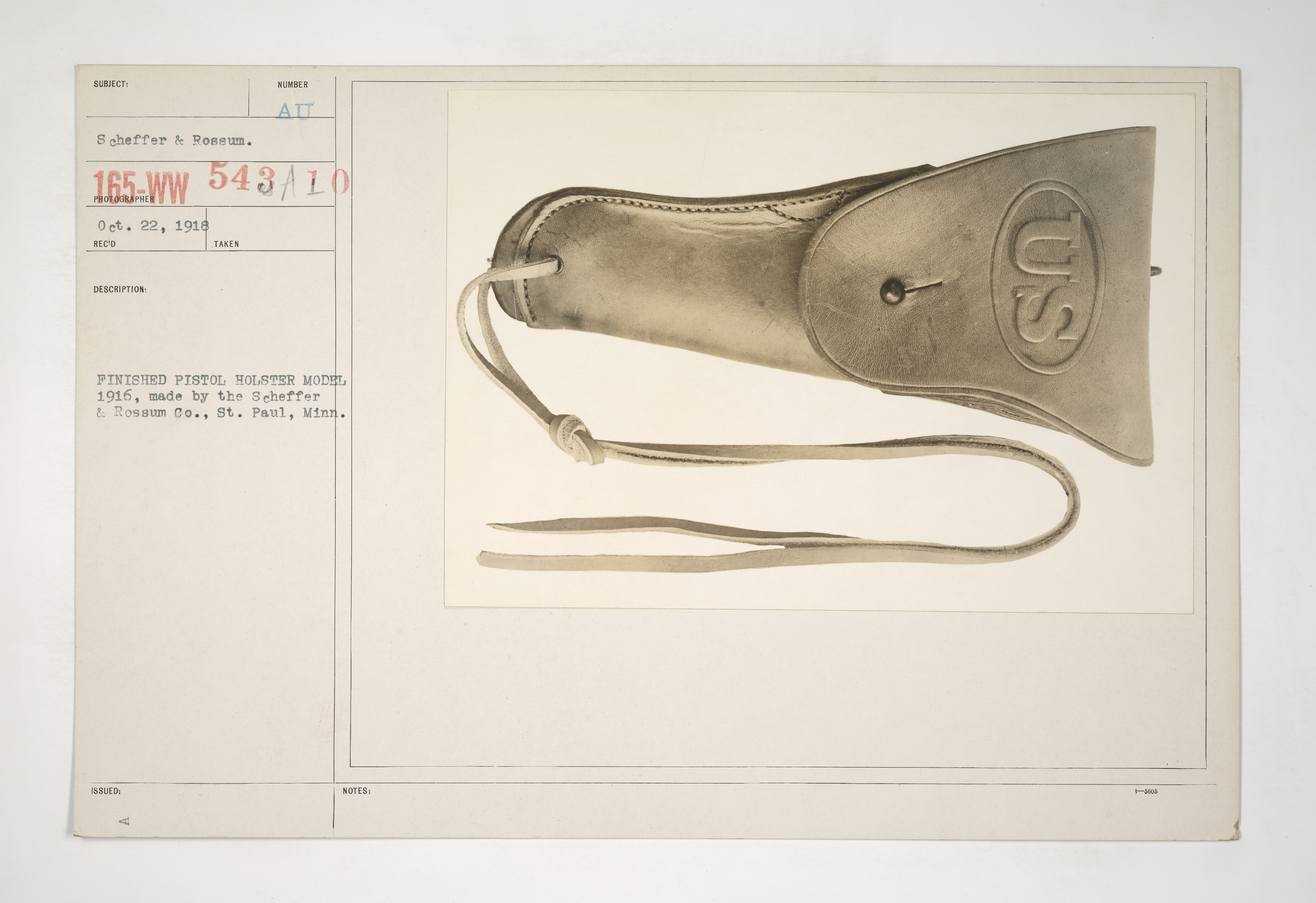 Uniforms and Equipment - Pouches and Scabbards [165-WW-543A-10]