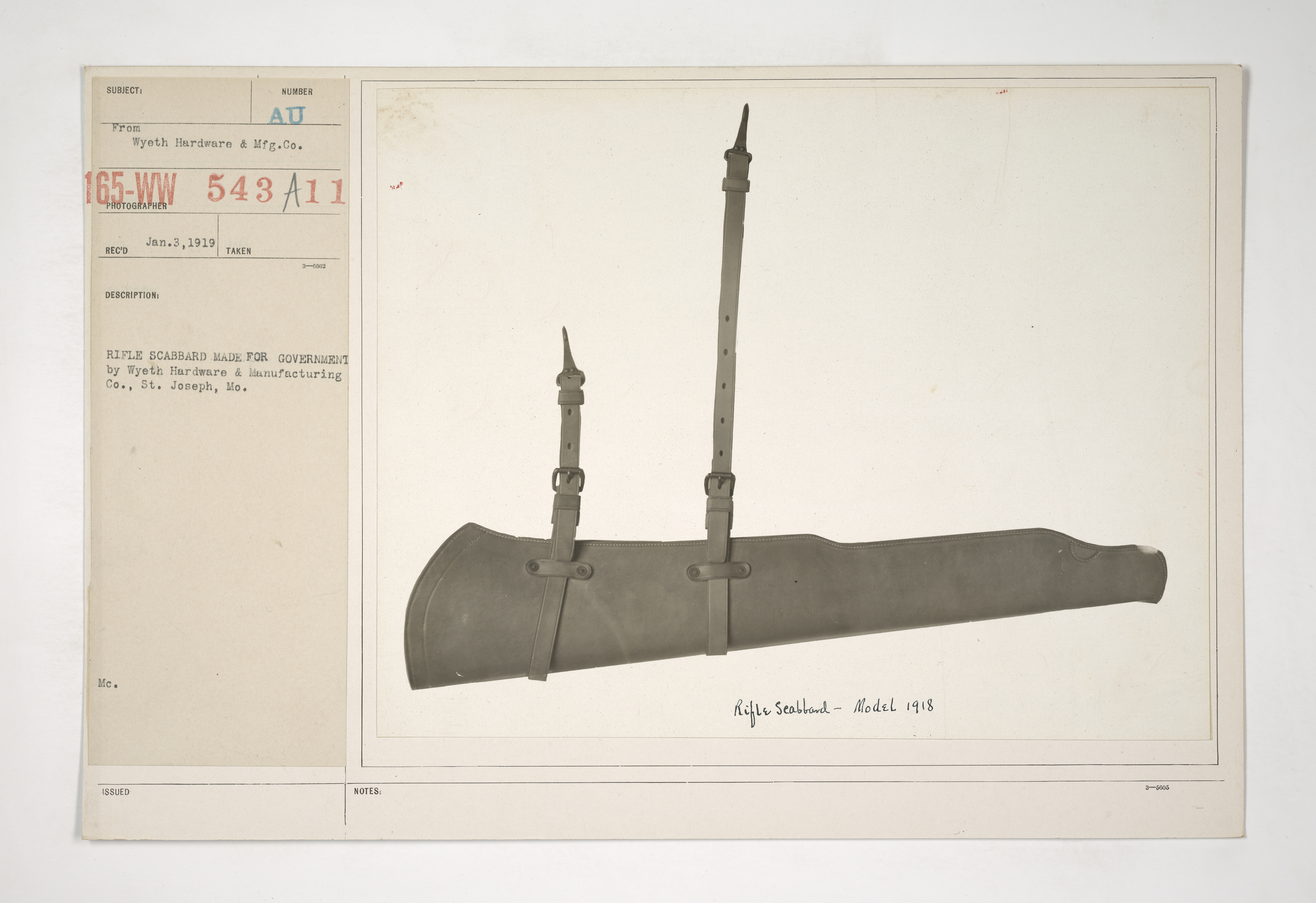 Uniforms and Equipment - Pouches and Scabbards [165-WW-543A-11]