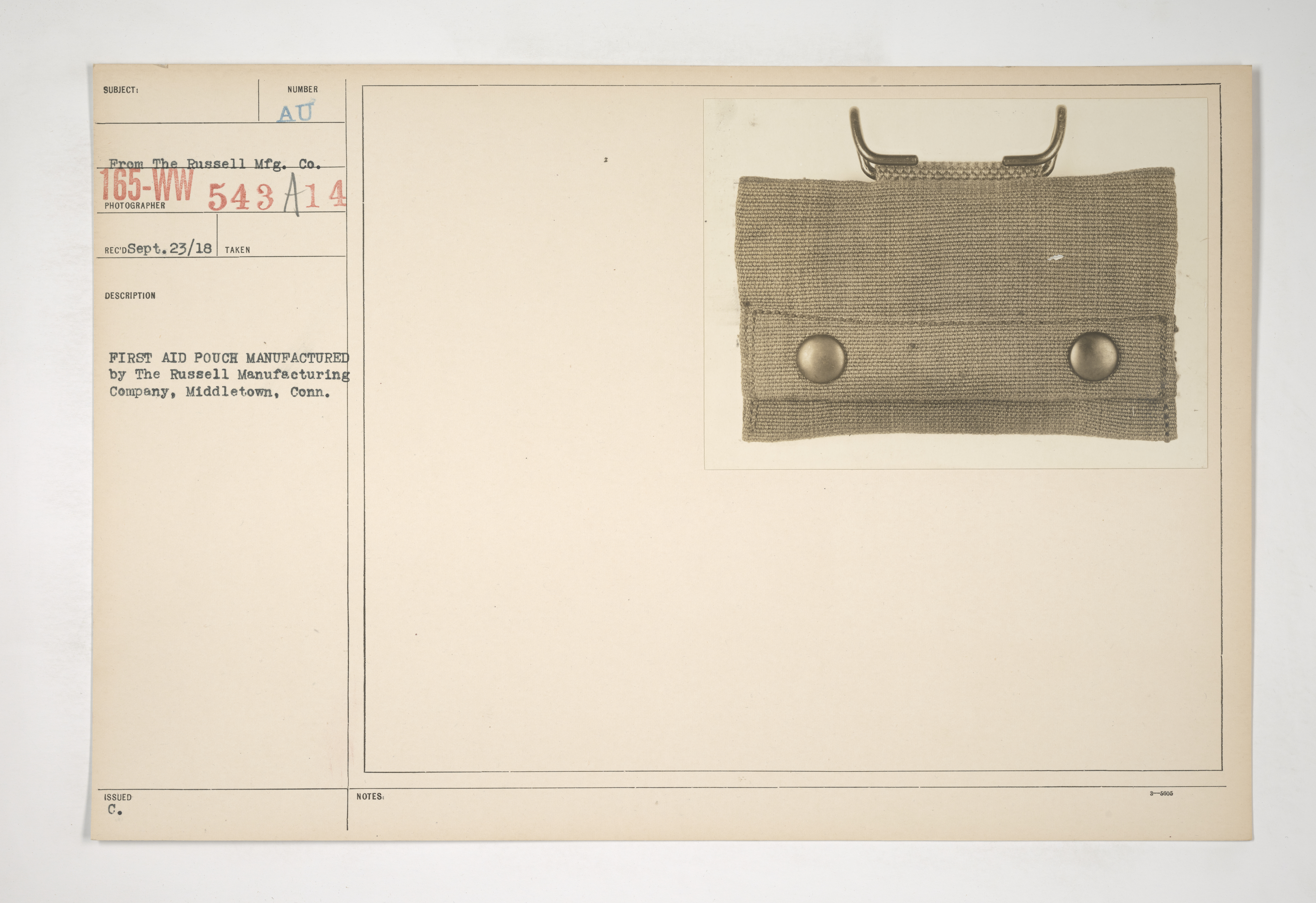 Uniforms and Equipment - Pouches and Scabbards [165-WW-543A-14]