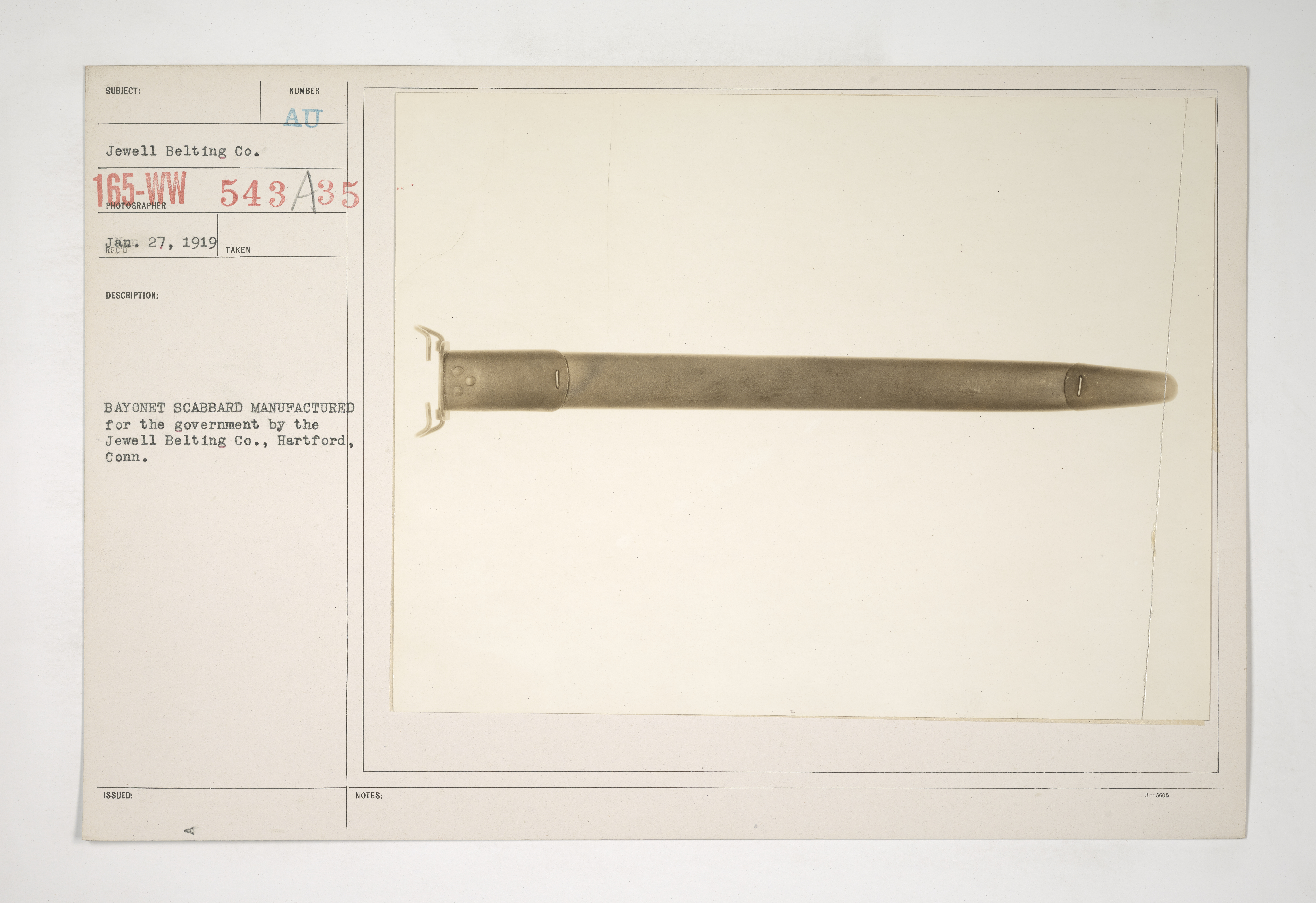 Uniforms and Equipment - Pouches and Scabbards [165-WW-543A-35]