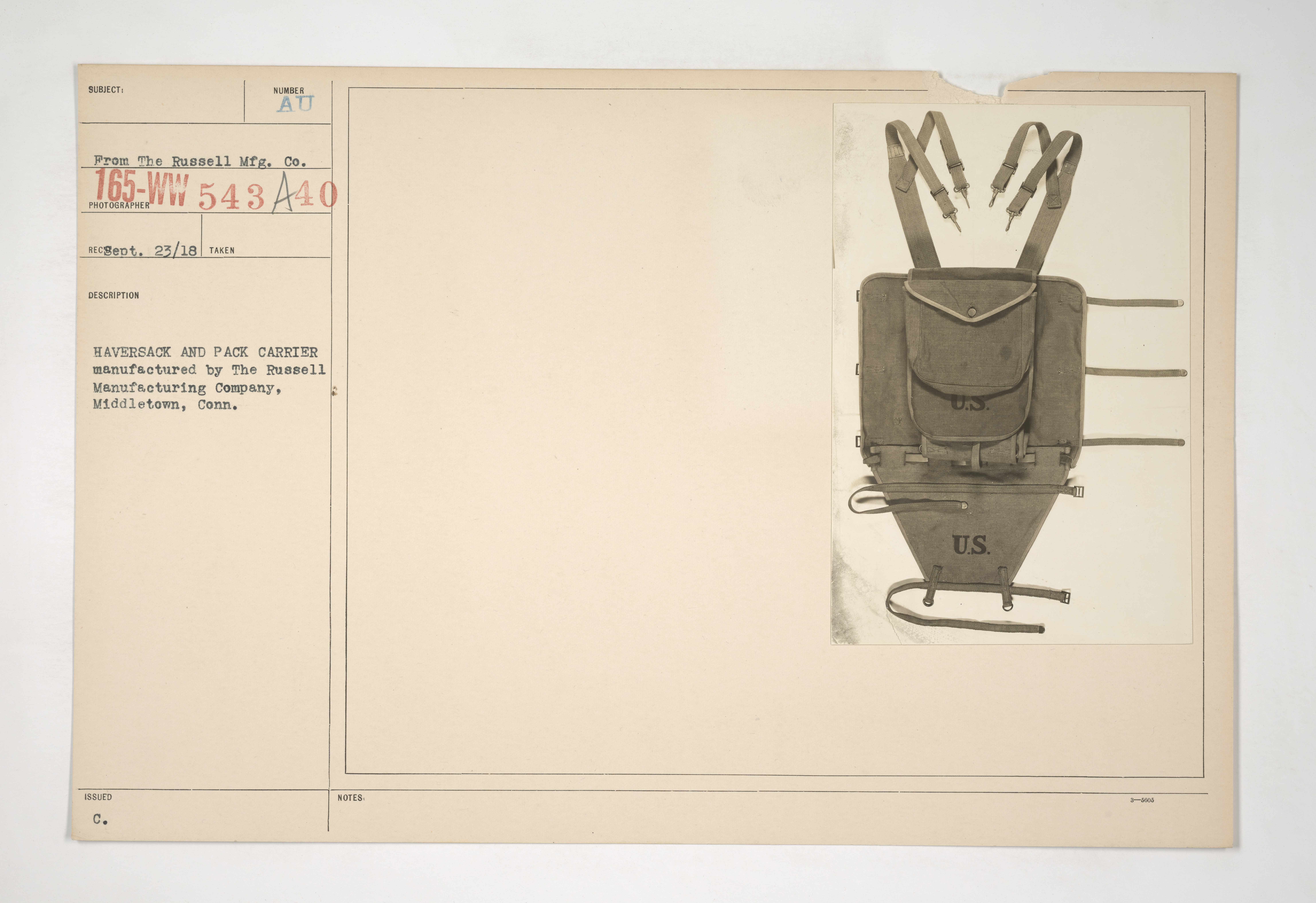 Uniforms and Equipment - Pouches and Scabbards [165-WW-543A-40]