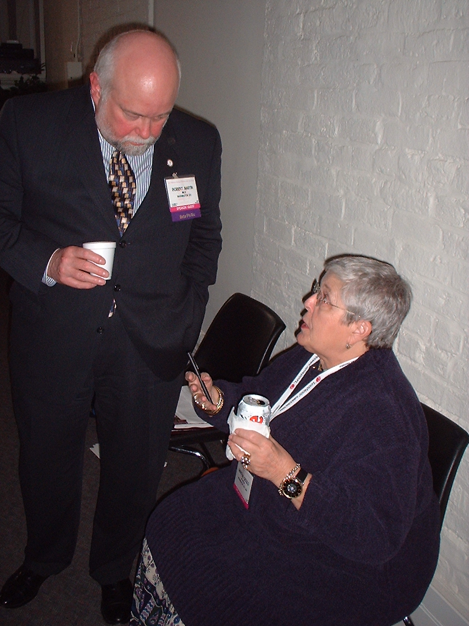 Bob Martin (IMLS) and Commissioner Gould at American Library Association Meeting in New Orleans