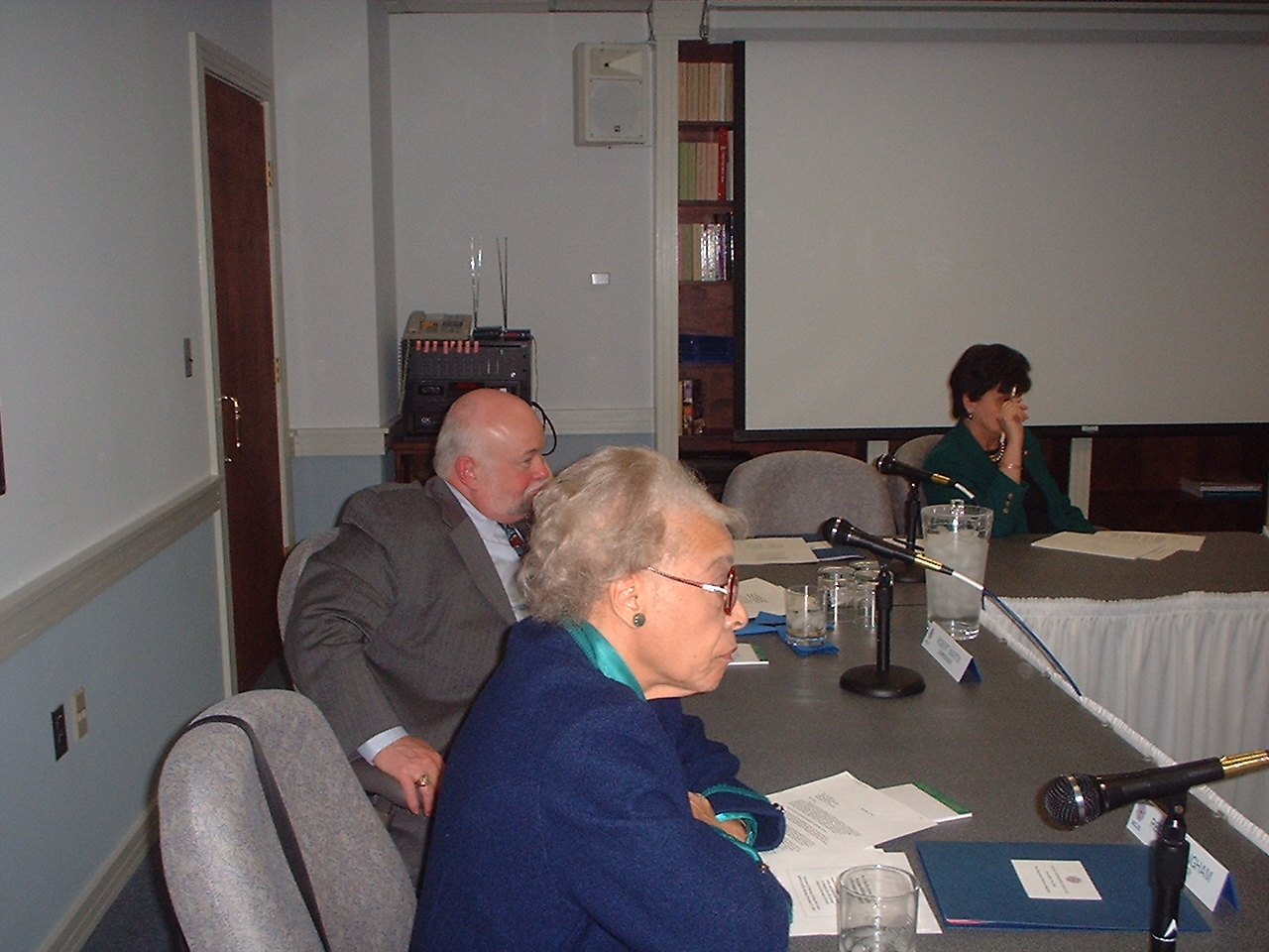 Rebecca Bingham and Bob Martin at National Museum and Library Services Board Meeting