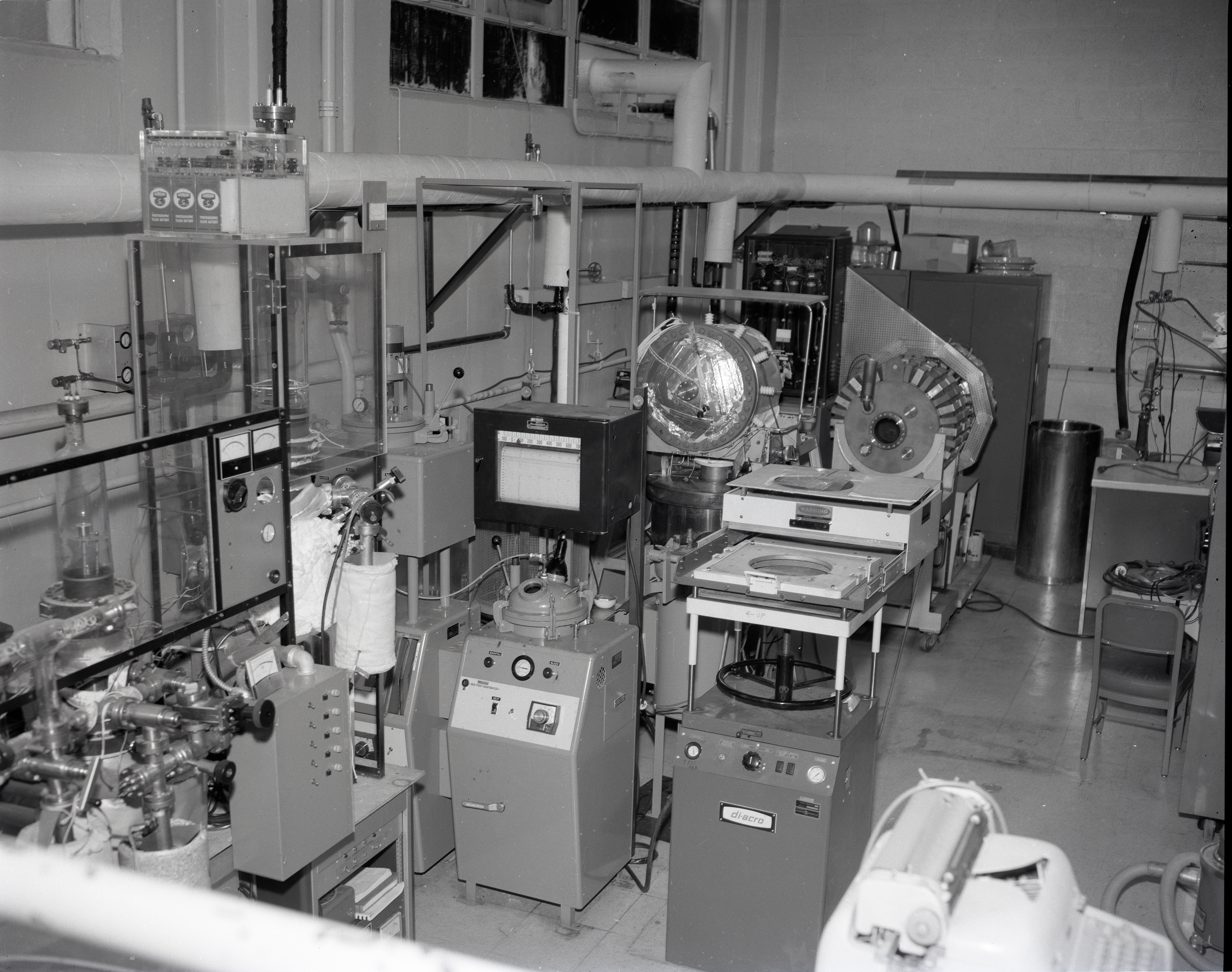 TEST RIGS - PARYLENE RIG - X FORMER LIFE TEST - LAMINATE LIFE TEST - PRESSURE POTS - TALL BELL JAR AND LOW - COMMUNICATION TECHNOLOGY SATELLITE CTS OUT GASSING