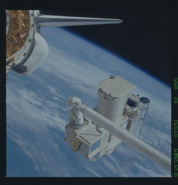 STS051-92-055 - STS-051 - ORFEUS/SPAS