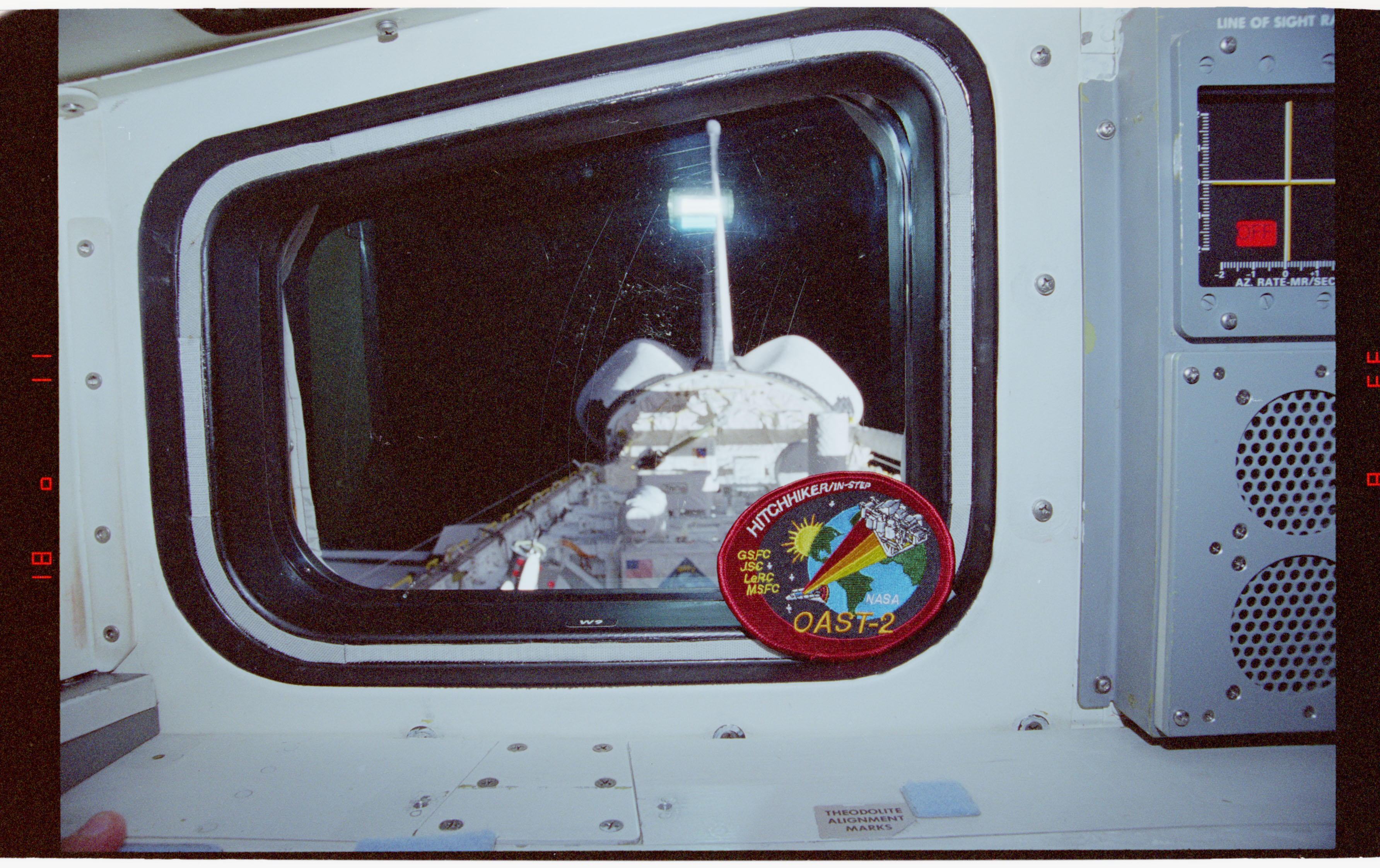 STS062-06-008 - STS-062 - View of OAST-2 in payload bay from window