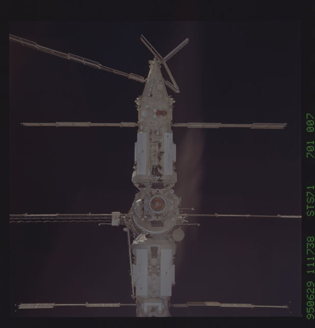 STS071-701-007 - STS-071 - Spektr modules on Mir space station