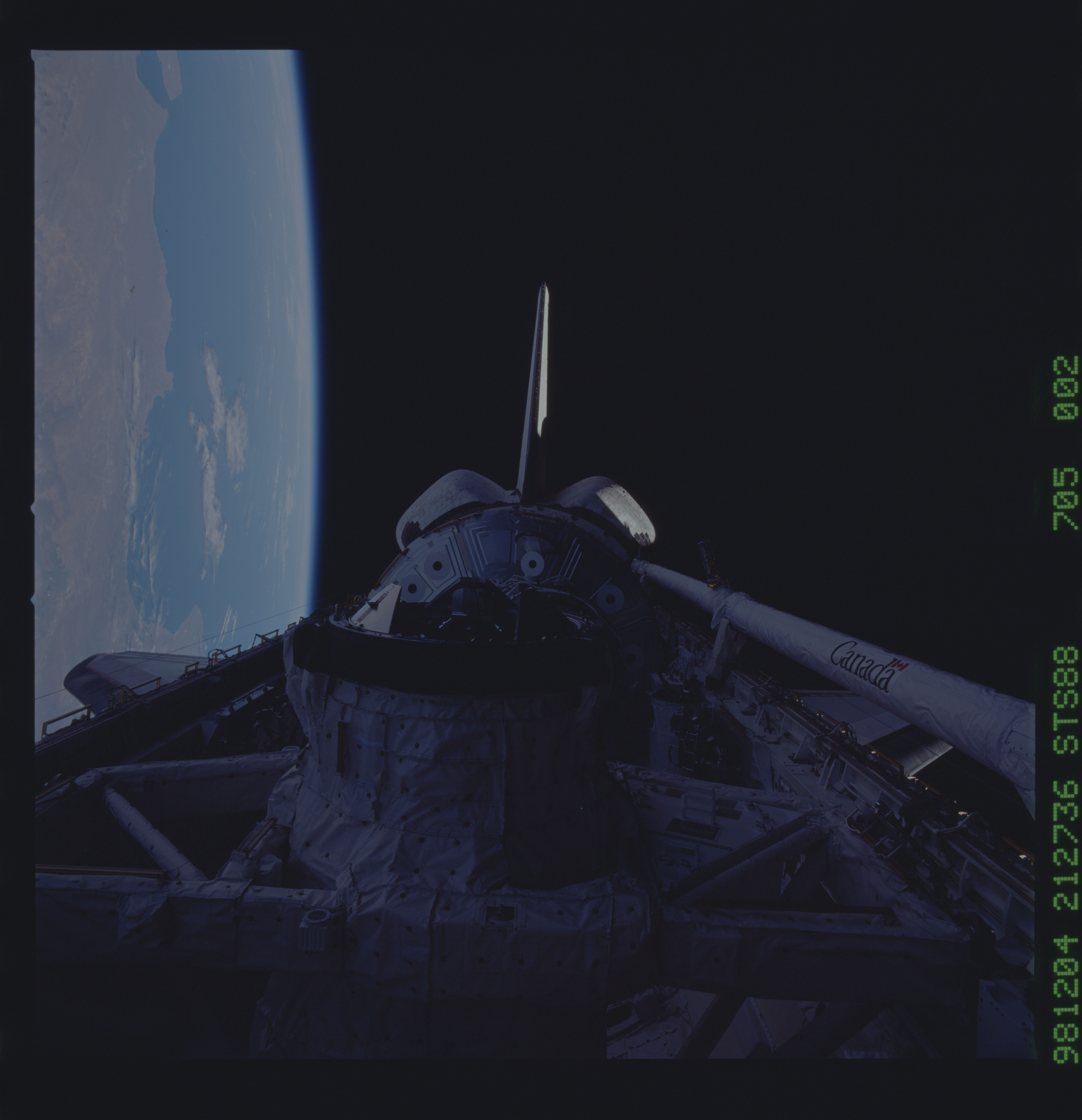 STS088-705-002 - STS-088 - Dark views of Node 1/Unity module in payload bay
